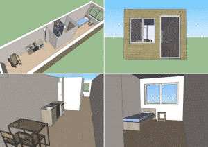 Aménagement d'un studio container de 36 m² en version résidentielle